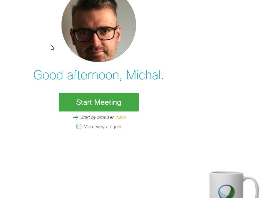 Cisco WebEx – osobisty pokój spotkań  (personal room)