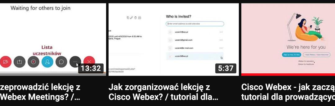 Cisco Webex – tutorial-e dla prowadzących zdalne nauczanie, spotkania on-line