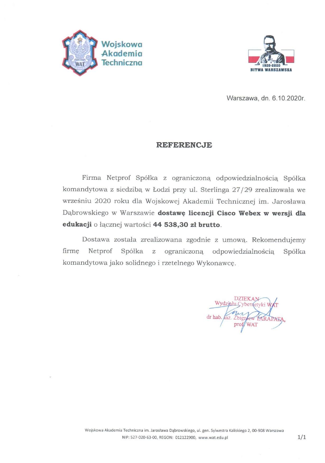 Referencje Webex